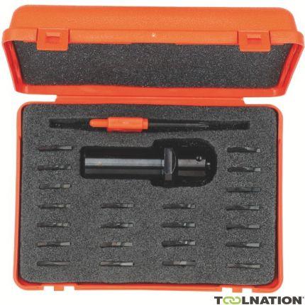 Multifreesset met 22 verschillende wisselmessen (Alleen voor CNC machines schacht 20 mm)
