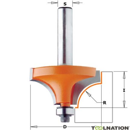 Holle radiusfrees met opstaande kant R=3,2 schacht Ø6