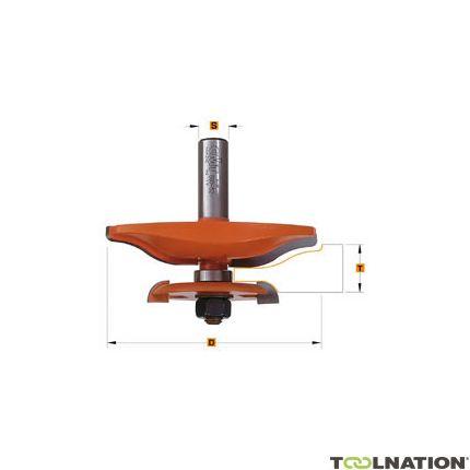 Horizontale bossingfrees met ondersnijmes profiel A1, 63,5x70 schacht 12