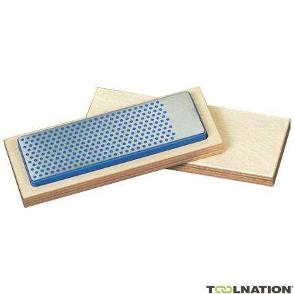 Universele diamant slijpsteen in houten box 150x52x16mm, D76 extra grof, zwart