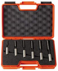 ( Ø 16 mm ) Set gespiraliseerde langgatboren met spaanbrekers 6 delig links