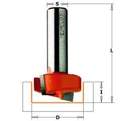 31,7 mm Sponning- en kantenfrees met schuine snijkop schacht 12 mm