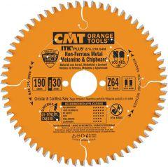 ITK-Plus afkortzaagblad voor non-ferro & composite materiaal 190 x 30(20/16) x 1,2 x 64T