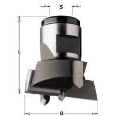 Cylinderkopboor met binnendraad aansluiting, 45mm, schacht M12x1 links