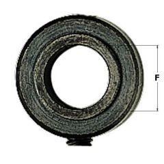 Blokkeringsring of diepte aanslag, D=12,2 mm, F=6.35 mm, I=6,5 mm