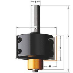 Rabatfrees met wisselbare messen + kops lager 50,8 x 87,3 mm schacht 12 mm