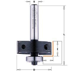 Rabatfrees met wisselbare messen + kops lager 34,9 x 53 mm schacht 8 mm