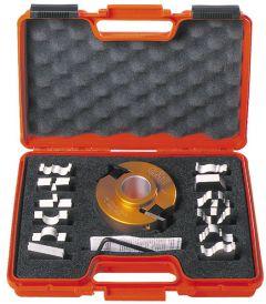 Profielfreeskop zonder begrenzer 100x31,75x40 mm ALU MEC + 13 messen