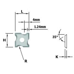 HWM afrondmessen F1730 12x12x1,5 R=3 (10 stuks)