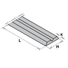 WPL mes HV10 80,5x5,5x1,1 (2 stuks)