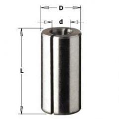 Verloopstuk voor schachten D=12,7, D3=8