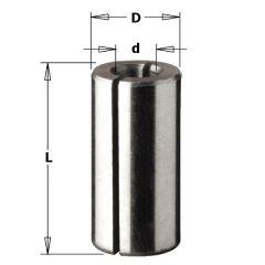 Verloopstuk voor schachten D=12, D3=8