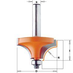 Holle radiusfrees met opstaande kant 25,4x12,7x59 R=6,35 schacht Ø12