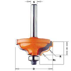Profielfrees geleidelager licht golvend met opstaande kant R=4,8 - 3,6 schacht 8mm
