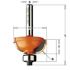 Bolle radiusfrees met geleidelager 31,7x14,3x57,1 schacht 8mm