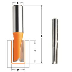 9 mm Groeffrees met 2 rechte snijkoppen schacht 8 mm