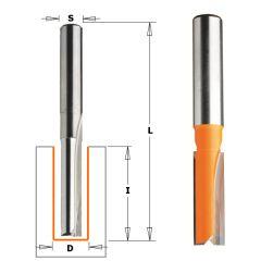 6 mm Groeffrees met rechte snijkoppen lange uitvoering schacht 8 mm