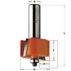 Rabatfrees + kopse geleider 31,7 x 19 mm schacht 8 mm