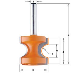 22,2 mm Halfronde frees R=3,2 schacht 8 mm