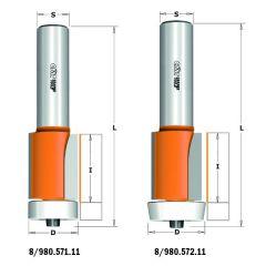 Corianfrees recht met Delrin kogellager 22x25,4x78 schacht 12 mm