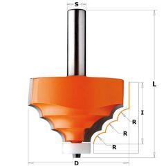 Corian Kwart Oprondfrees + lager schacht 12 mm