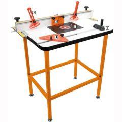 Inlegplaat voor freestafel type BF/3 met inlegringen geschikt voor artikel 999.110.00