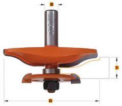 Horizontale bossingfrees met ondersnijmes profiel B1, 63,5x70 schacht 12