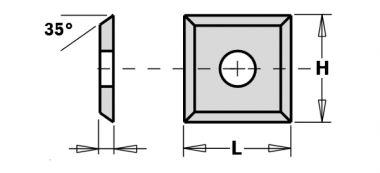 WPL wisselmes 4 zijdig 12 x 12 x 1,5 mm 10 stuks